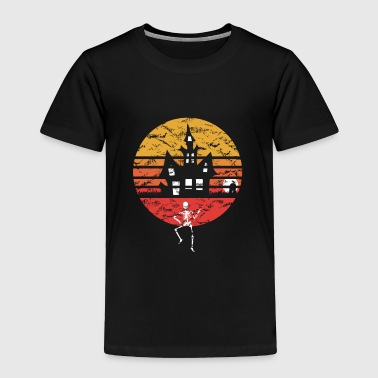 Halloween Vintage Retro Witch Skeleton Gift Idea - Toddler Premium T-Shirt