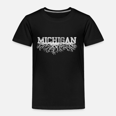 Roots Michigan Rooted Roots Raised - Toddler Premium T-Shirt
