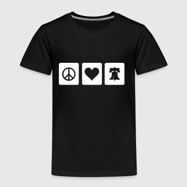 Peace Love Liberty Bell Philly Philadelphia - Toddler Premium T-Shirt