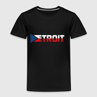 Classic Detroit Czech Pride Flag - Toddler Premium T-Shirt