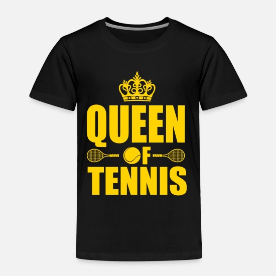 Court Baby Clothing - Queen of Tennis - Toddler Premium T-Shirt black