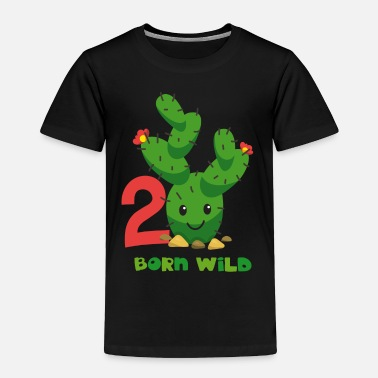 Cute 2nd Birthday Cute Cactus 2nd Birthday - Toddler Premium T-Shirt