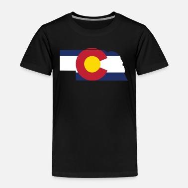 b9b0b2a0 Funny Nebraska Nebraska Colorado Funny Pride Flag Apparel - Toddler Premium  T-Shirt