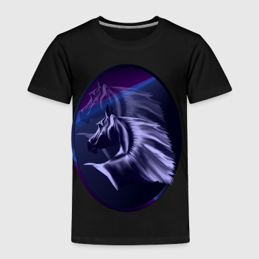 Horse Silhouette Shadowed Oval - Toddler Premium T-Shirt