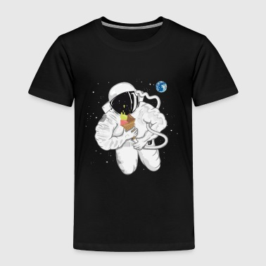 Astronaut with ice cream cone  - Toddler Premium T-Shirt