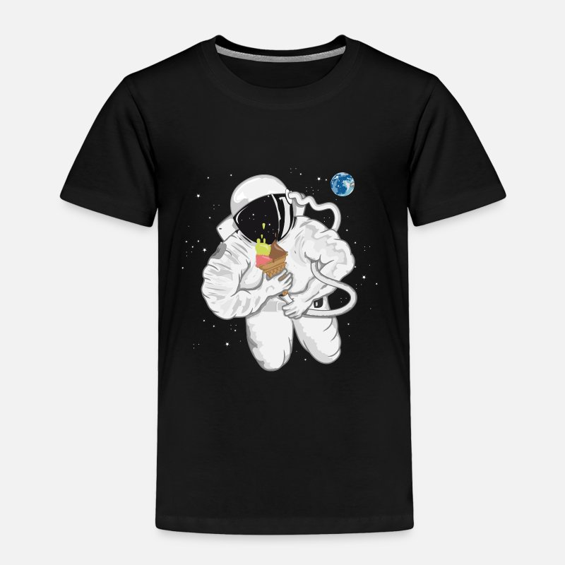Fantasy Baby Clothing - Astronaut with ice cream cone  - Toddler Premium T-Shirt black