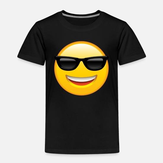 8734fb811c Emoji Baby Clothing - SMILEY FACE EMOTICON - Toddler Premium T-Shirt black