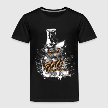 Halloween owl with witch hat - Toddler Premium T-Shirt