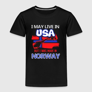 I Was Made In Norway Shirt - Toddler Premium T-Shirt
