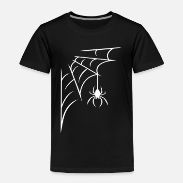 Web Spider with web - Toddler Premium T-Shirt