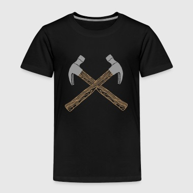 Hammer Gavel Sledge Hammered Carpenter crossed - Toddler Premium T-Shirt