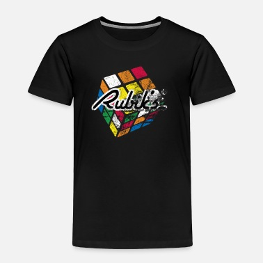 Cube Rubik's Cube Distressed and Faded - Toddler Premium T-Shirt
