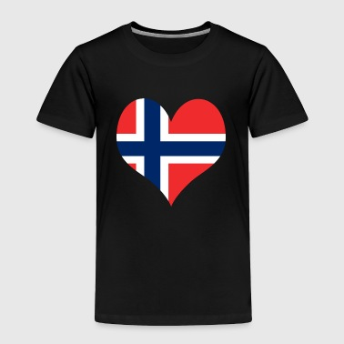 Heart Norway Love country europe gift idea - Toddler Premium T-Shirt