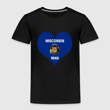 Heart Wisconsin Love country America USA gift idea - Toddler Premium T-Shirt