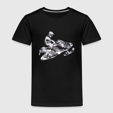 Grey-Camo-Snowmobiler - Toddler Premium T-Shirt