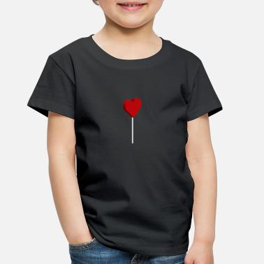 3D Heart Lollipop - Toddler Premium T-Shirt