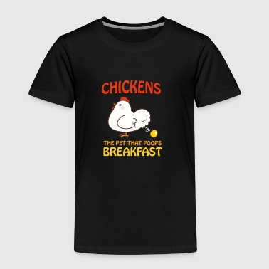 Golden Egg Chickens Pet That Poops Breakfast Funny Qute - Toddler Premium T-Shirt