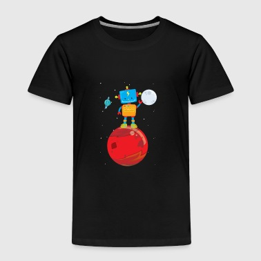 Outer Space Robot on Mars - Toddler Premium T-Shirt