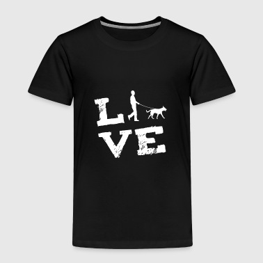 Man Dog Passage Love Gift - Toddler Premium T-Shirt