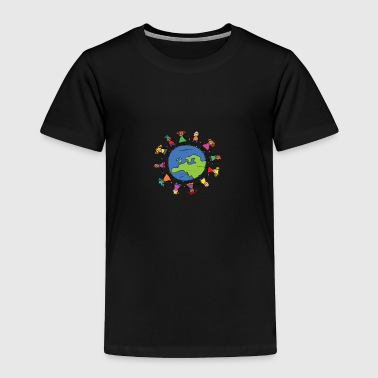 Protect The Environment Earth Day With Children - Toddler Premium T-Shirt