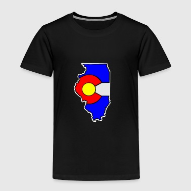 Colorado Flag Illinois State - Toddler Premium T-Shirt