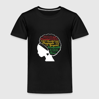 Black Beautiful Is In My DNA, Natural Afro Pride - Toddler Premium T-Shirt