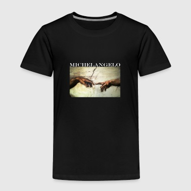 Michelangelo Art Shirt - Creation of Adam - Toddler Premium T-Shirt