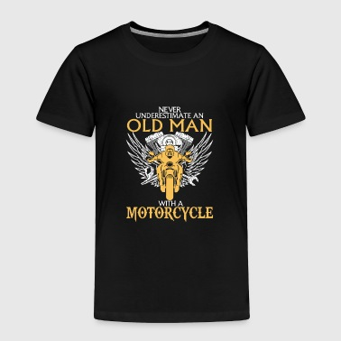 Old Man With Motorcyle - Toddler Premium T-Shirt