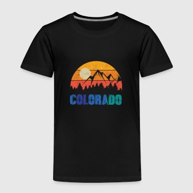 Retro Vintage Colorado With Mountain And Forest - Toddler Premium T-Shirt