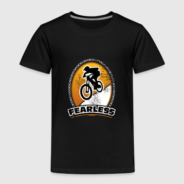 Fearless Downhill bicycle gift idea heavy ride - Toddler Premium T-Shirt