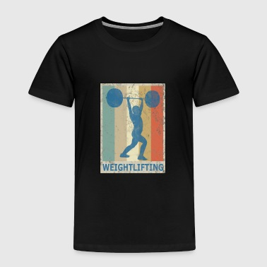 Retro Vintage Style Weightlifting Fitness Gym - Toddler Premium T-Shirt