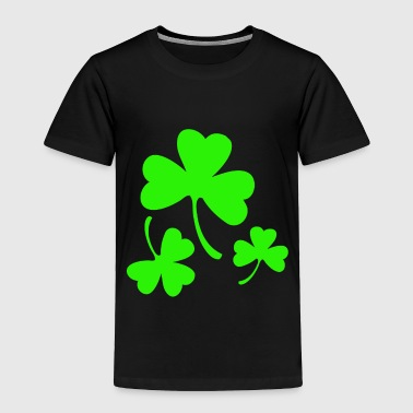 3 Neon Green Shamrocks - Toddler Premium T-Shirt