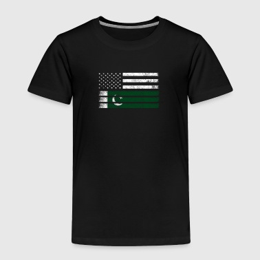 Pakistani American Flag - USA Pakistan Shirt - Toddler Premium T-Shirt