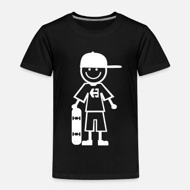 Skateboard skater kid - Toddler Premium T-Shirt
