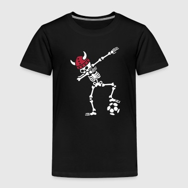 Denmark dab dabbing skeleton soccer football - Toddler Premium T-Shirt