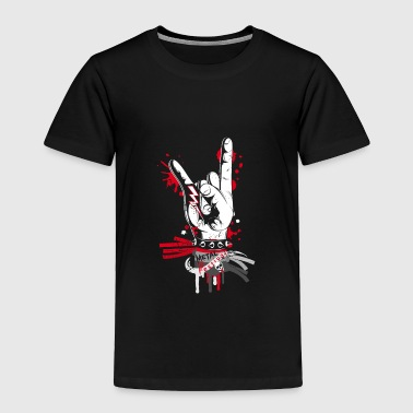 Hand Sign Metal and rock hand sign - Toddler Premium T-Shirt