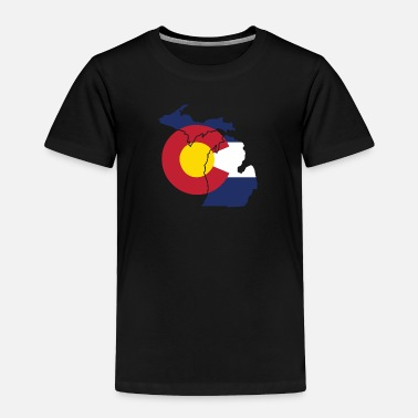 Pride Michigan Colorado Funny Pride Flag Apparel - Toddler Premium T-Shirt