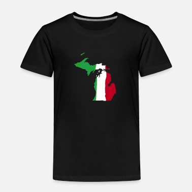 Michigan Pride Michigan Italian Italy Flag Pride  - Toddler Premium T-Shirt
