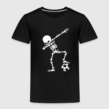 Dab dabbing skeleton football (soccer) - Toddler Premium T-Shirt