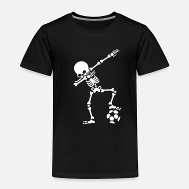 Skeleton Dab dabbing skeleton football (soccer) - Toddler Premium T-Shirt