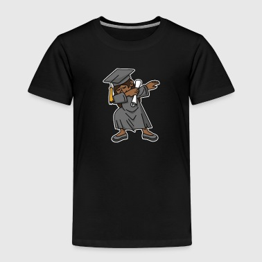 Black girl student dab dabbing graduation school - Toddler Premium T-Shirt