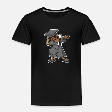 Graduation Black girl student dab dabbing graduation school - Toddler Premium T-Shirt