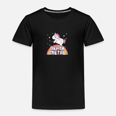 Iron Metal Ironic Death Metal Music Festival Party Unicorn - Toddler Premium T-Shirt