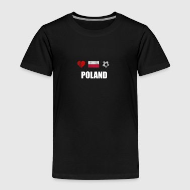 Poland Football Shirt - Poland Soccer Jersey - Toddler Premium T-Shirt