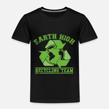 Faded Green Earth Recycling Team Faded - Toddler Premium T-Shirt