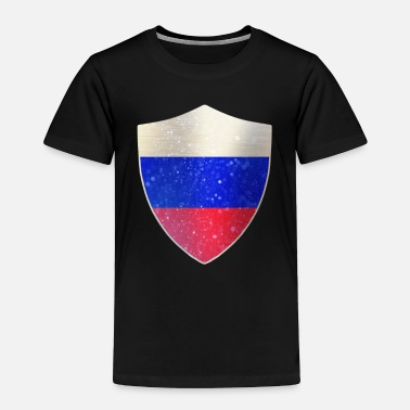 Police Russia Flag Shield - Toddler Premium T-Shirt