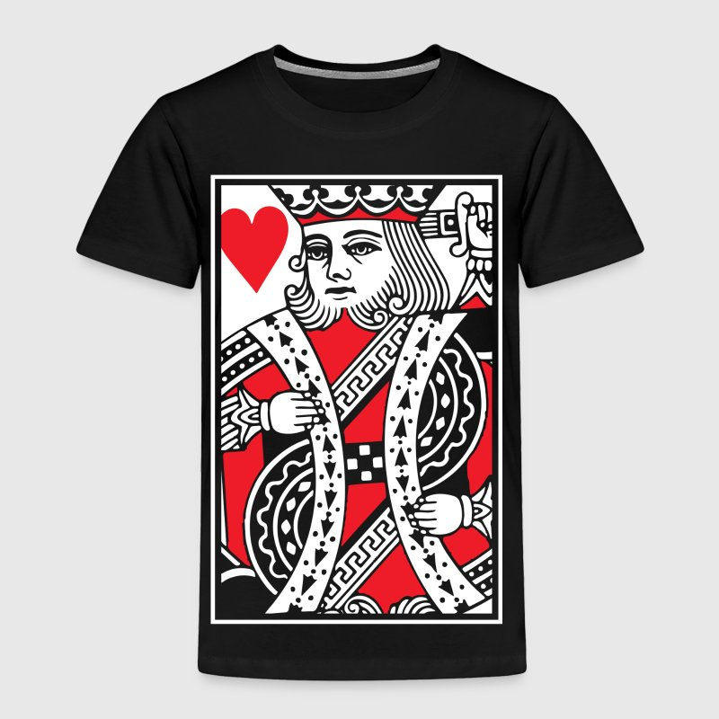 King of Hearts Vector - Toddler Premium T-Shirt