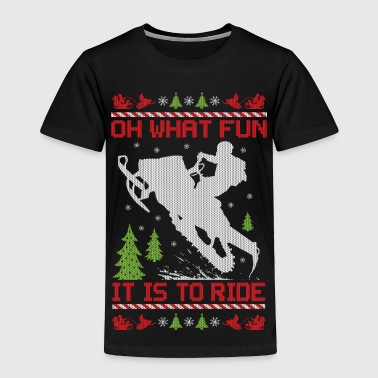 Snowmobile Christmas Fun - Toddler Premium T-Shirt