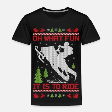 Snowmobile Snowmobile Christmas Fun - Toddler Premium T-Shirt