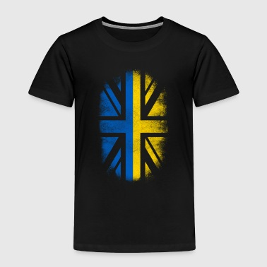 British Ukrainian Flag - Ukraine and UK Pride TShirt - Toddler Premium T-Shirt